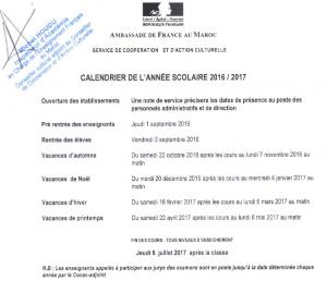 calendrier-scolaire-2016-2017-maroc-france