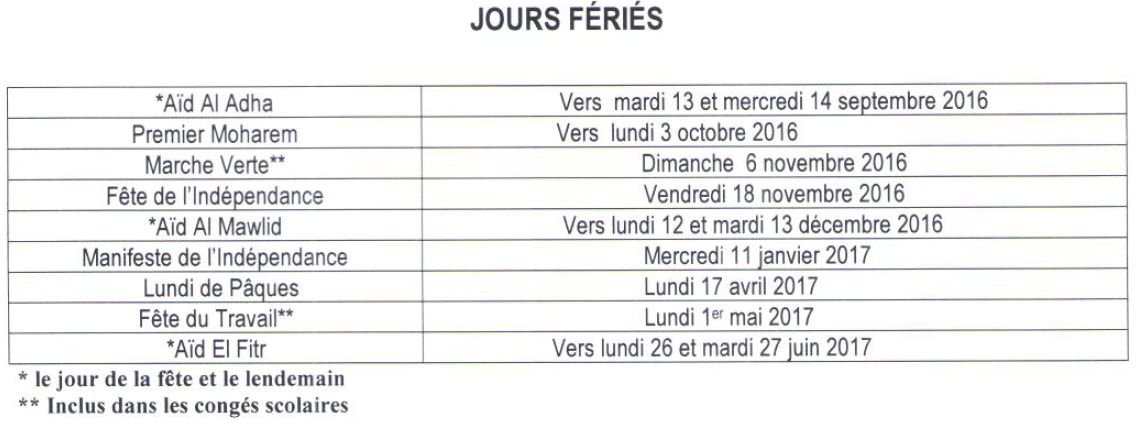 calendrier vacances cpge