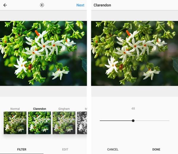 optimisation des images par filtre instagram