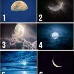 Choisissez une lune pour révéler vos pensées cachées