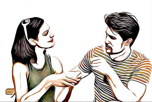 seduire quelqu'un par des phrases de drague