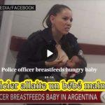 [Geste d'amour] : Photo policier qui allaite un bébé malnutri devient viral