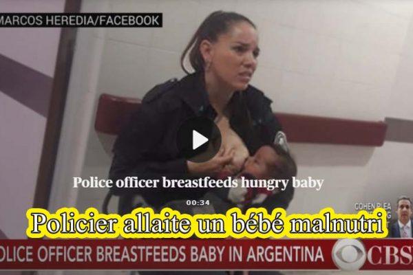 policier argentine allaitement
